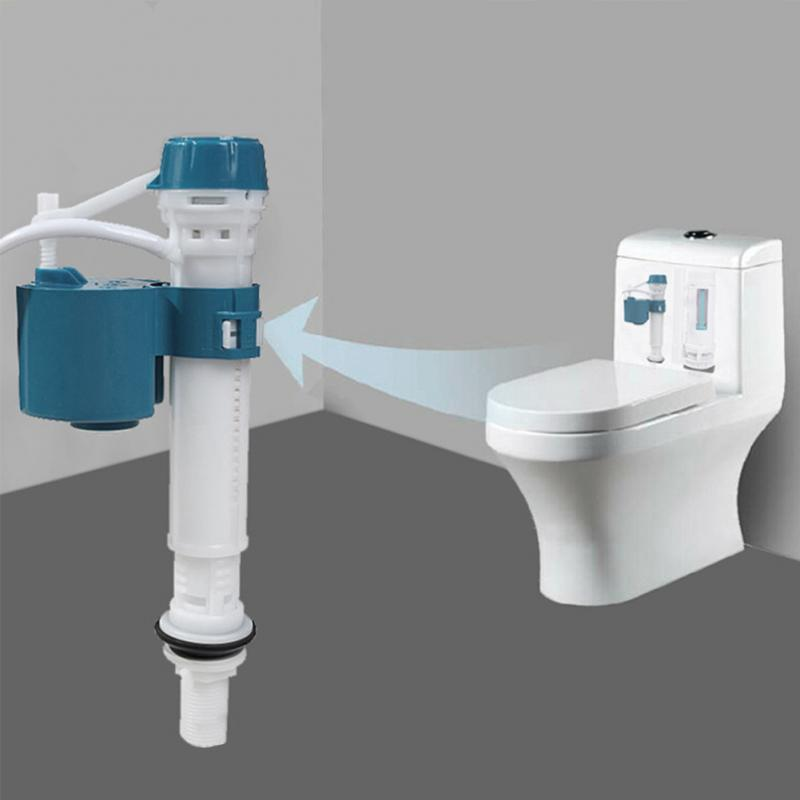 Bathroom Bottom Entry Shank Inlet Toilet Tool Float Adjustable Flush Push Button Water Cistern Valve