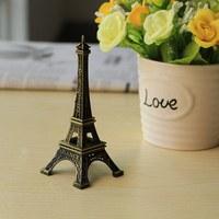 뜨거운 판매! 2 개 25 센치메터 청동 톤 파리 에펠 탑 입상 동상 골동품 홈 장식 빈티