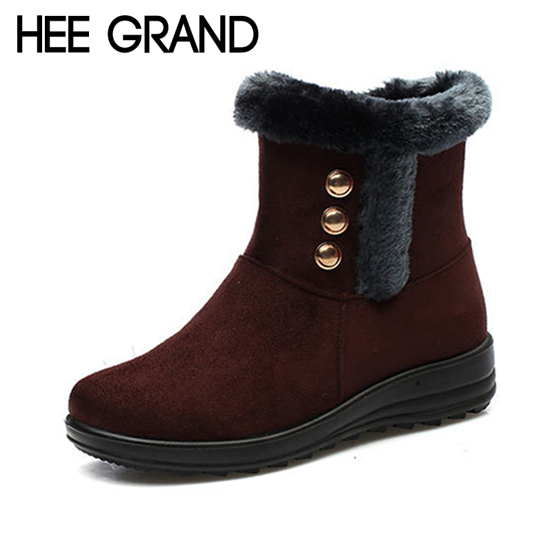 HEE GRAND 2017 New Wedges Winter Women Ankle Boots Faux Fur Creepers Casual Shoes Woman Women Platform Shoes XWZ4513 hee grand inner increased winter ankle boots warm fringe fashion platform women snow boots shoes woman creepers 3 colors xwx6180