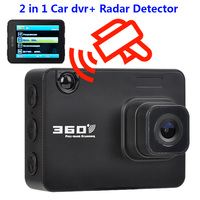 2 in 1 Car Radar Detector with Car DVR English Russian Dash Cam Auto 360 Degree Vehicle D50 Speed Voice Alert Alarm For Russia