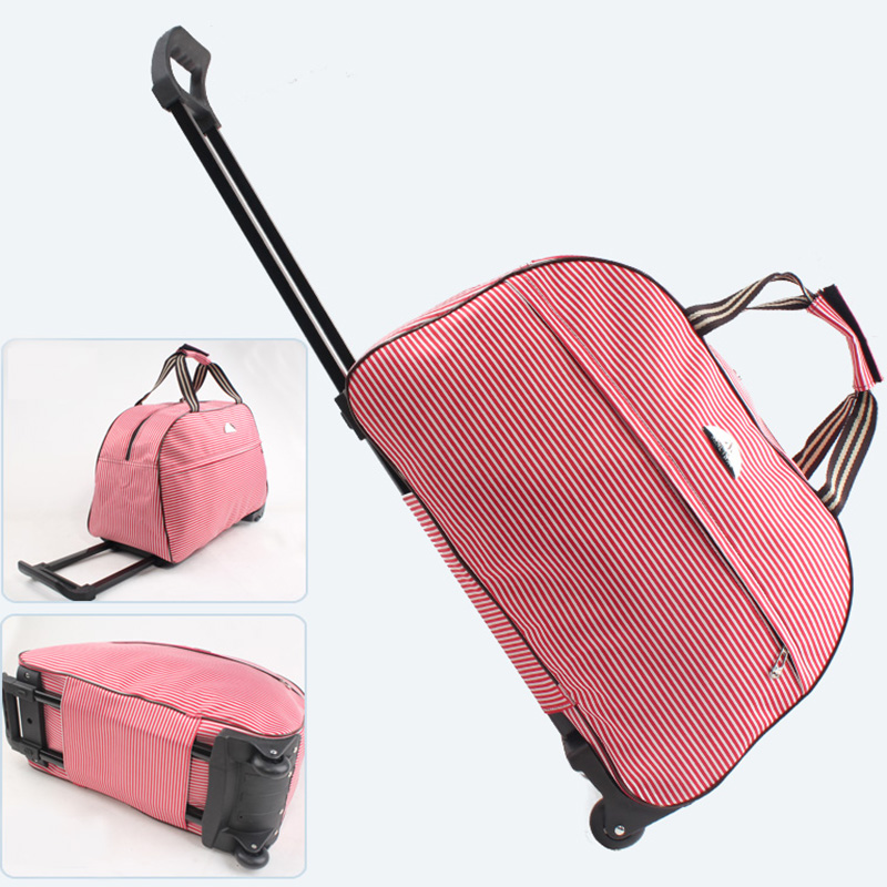 Image 2 - Waterproof Oxford Travel Bag Women Packing Cubes Lever Duffle Bag Portable Suitcases And Travel Bags Organizer Fashion Luggageluggage fashiontravel bag womenduffle bag -