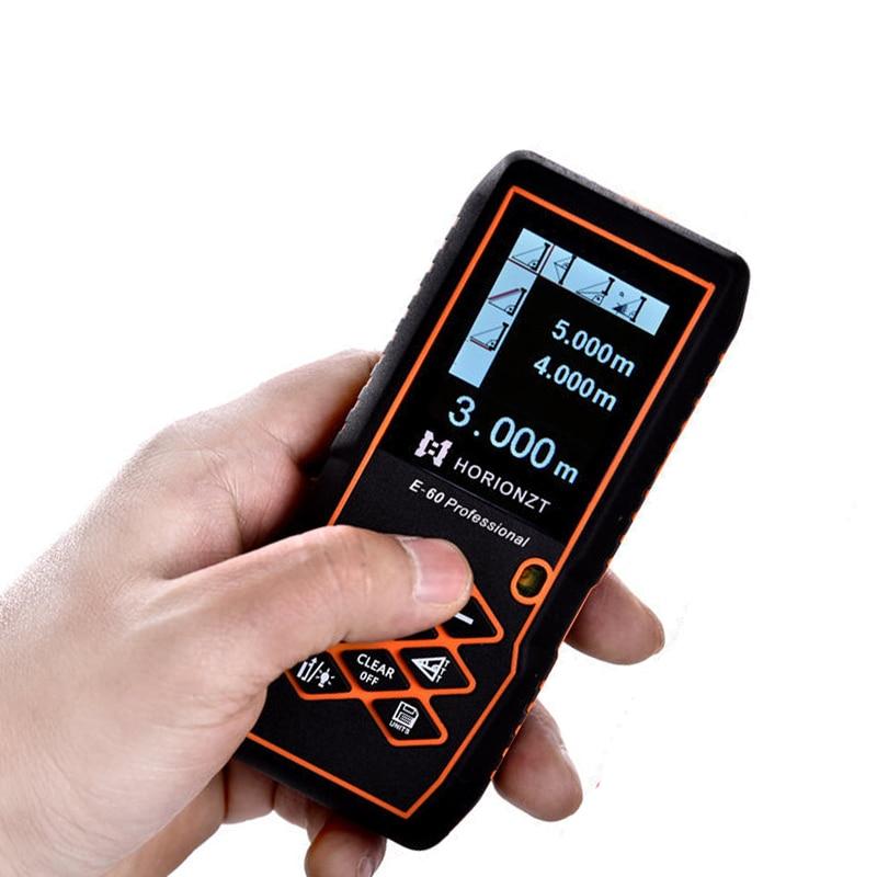 IR laser distance meter , color rangefinder 80m Digital rangefinder, outdoor test Volume, area, angle, distance Visualization
