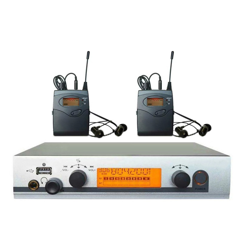2 Receivers Wireless in ear Monitor System ew300 iem G3 with USB, Stage ear Monitors dj equipments 40 channels available 2 receivers 60 buzzers wireless restaurant buzzer caller table call calling button waiter pager system