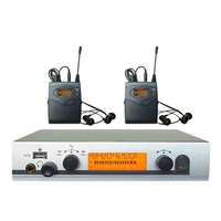 2 Receivers Wireless in ear Monitor System with USB Personal in ear monitor System Stage ear Monitors dj equipments 40 channels|in ear monitor system|wireless in ear monitor|in ear system -