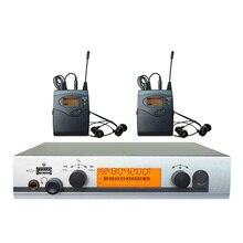 2 Receptores Sem Fio in ear Monitor System com USB Pessoal Sistema de monitor de Palco ouvido intra-auriculares Monitores equipamentos de dj 40 canais
