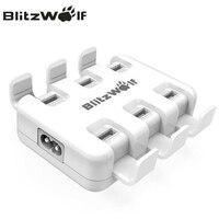 BlitzWolf 6-portowy Szybka Ładowarka Biurkowa Ładowarka USB Adapter Ładowarka do Telefonów Komórkowych dla iPhone X 8 7 6 s 6 Plus Dla Samsung Smartphone