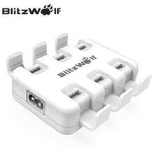 BlitzWolf USB Chargeur Mobile Téléphone Chargeur Adaptateur 6-Port Chargeur De Bureau Rapide pour iPhone X 8 7 6 s 6 Plus Pour Samsung Smartphone