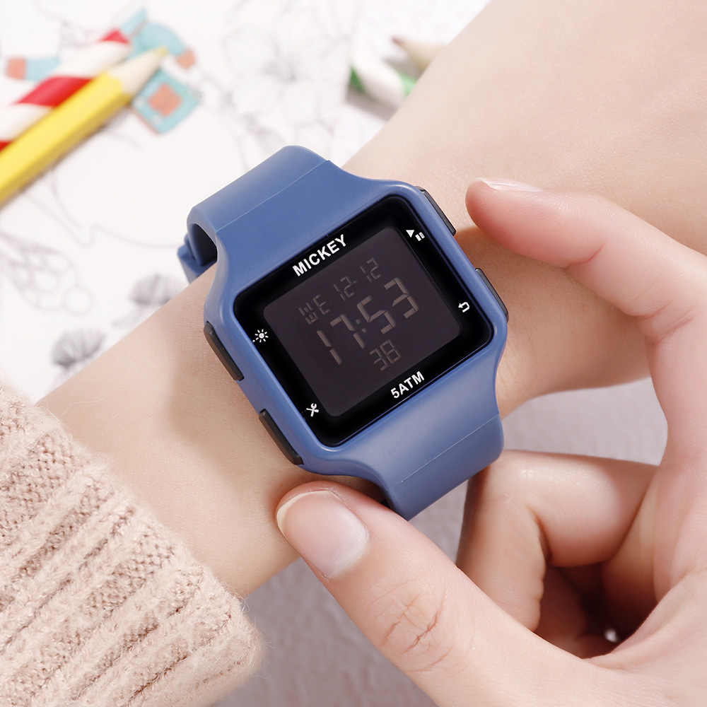 DISNEY Multifunction Sport Kids Watches 100% Original Waterproof and Swimmable Digital Watches Mickey Mouse Girl and Boys