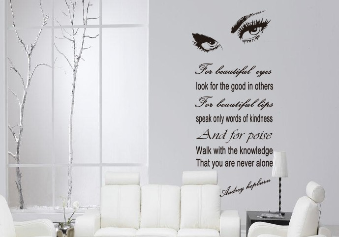 Audrey Hepburn U0027S Eyes Wall Decals Vinyl Stickers Home Decor Livingroom  Decor Art Wall Stickers Part 55