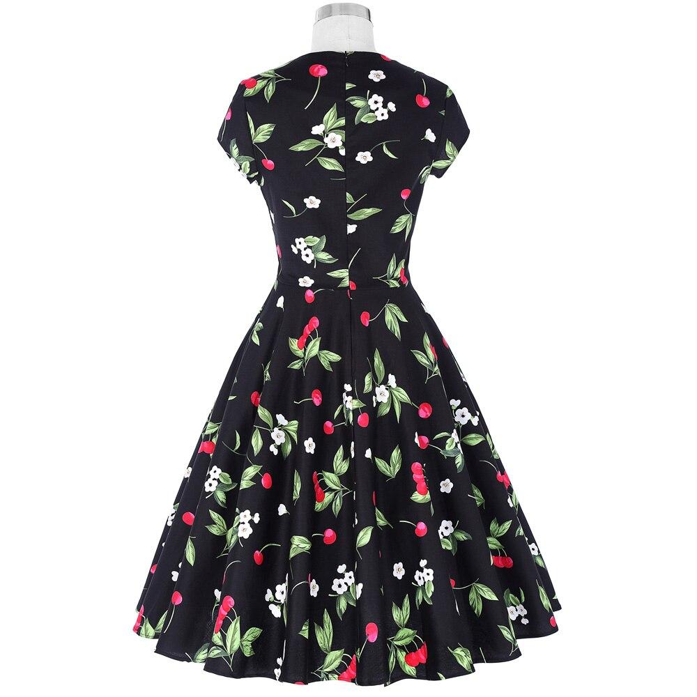 Belle Poque Audrey Hepburn Abito Retro Rockabilly Dress 2018 jurken 60 s  Swing Floral Pin up Estate Delle Donne 50 s Abiti d epoca in Belle Poque  Audrey ... 33498bd7703