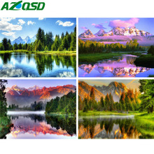 AZQSD Diamond Painting Scenery Cross Stitch Diamond Embroidery Landscape Handicrafts Home Decoration Gift Needlework 5d Diy diamond embroidery 5d shepherd dog image painting mosaic cross stitch gift needlework home decoration hobby handicrafts