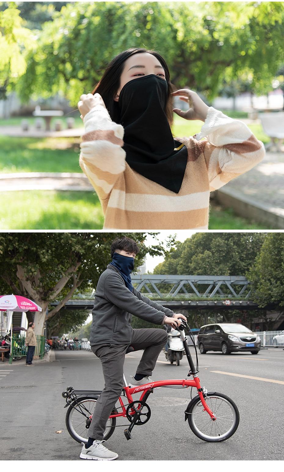 HTB1XPZLXN rK1RkHFqDq6yJAFXaP CoolChange Bicycle Mask Winter Warm Face Mask Elastic Cycling Triangle Mask Polar Fleece Breathable Ear Protector Bike Facemask