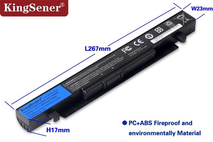 15 v 2950 mah Cellule de La Corée Nouveau A41-X550A Batterie D'ordinateur Portable pour ASUS A41-X550 X450 X550 X550C X550B X550V X450C X550CA x452EA X452C - 4