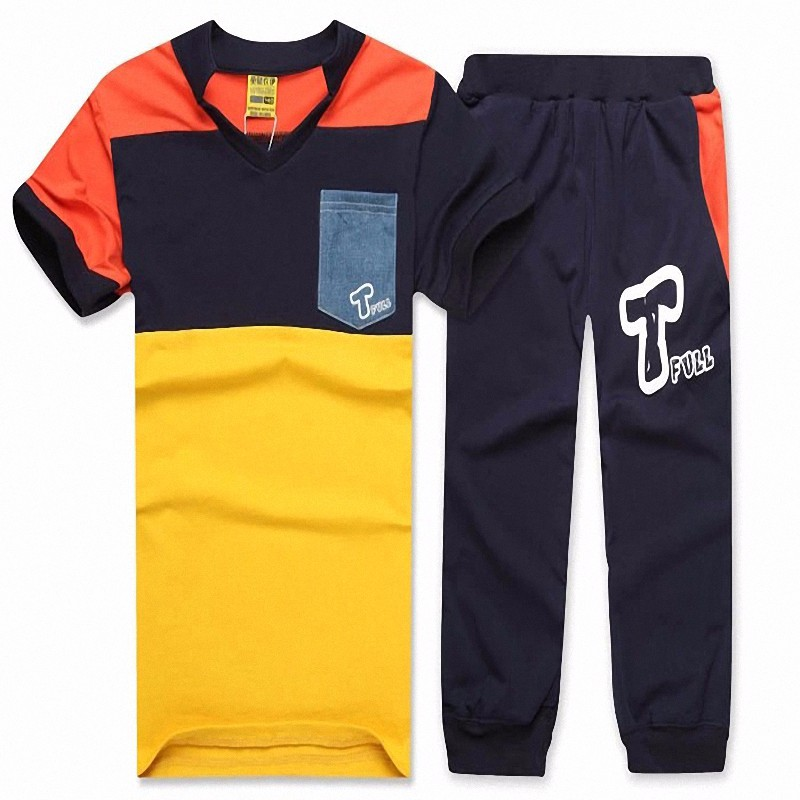 boy sport stripe clothing set (6)