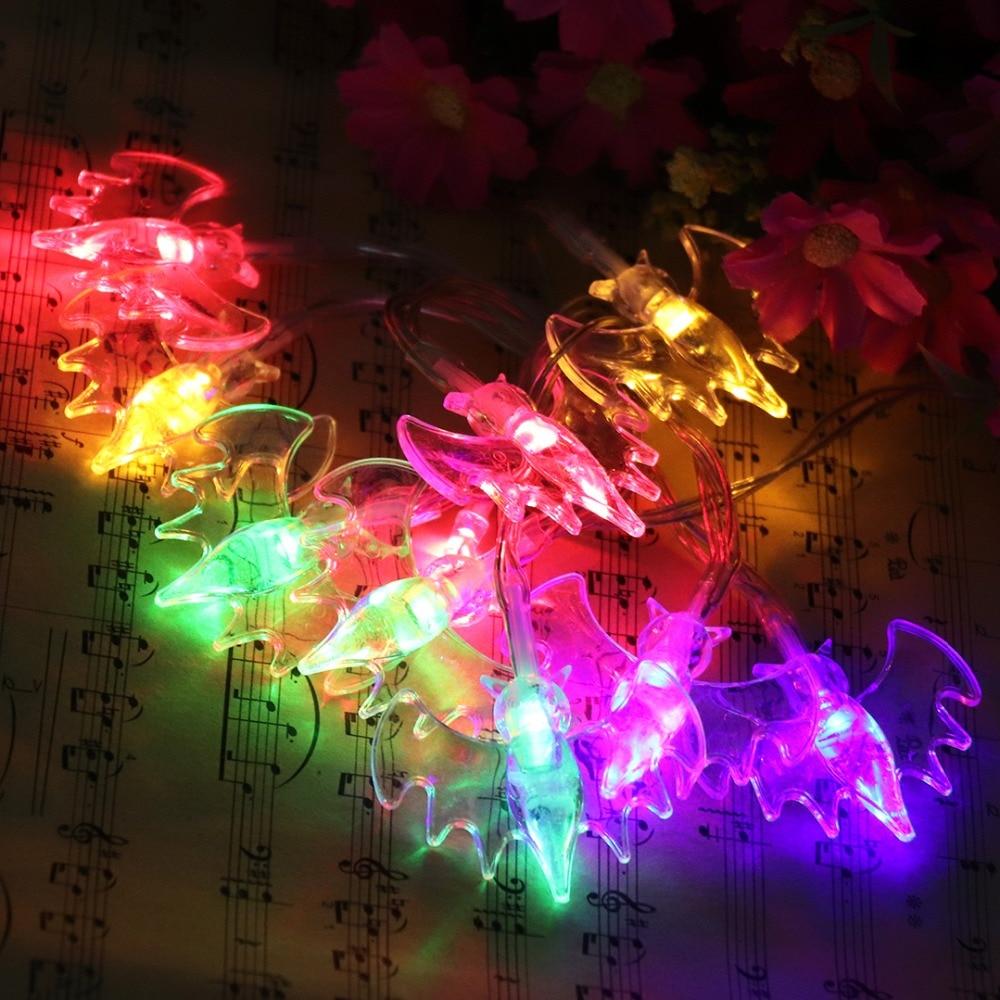 Halloween Props 1M LED Strenge Lys Holiday Creative Dekorative Lights - Ferie belysning - Foto 6