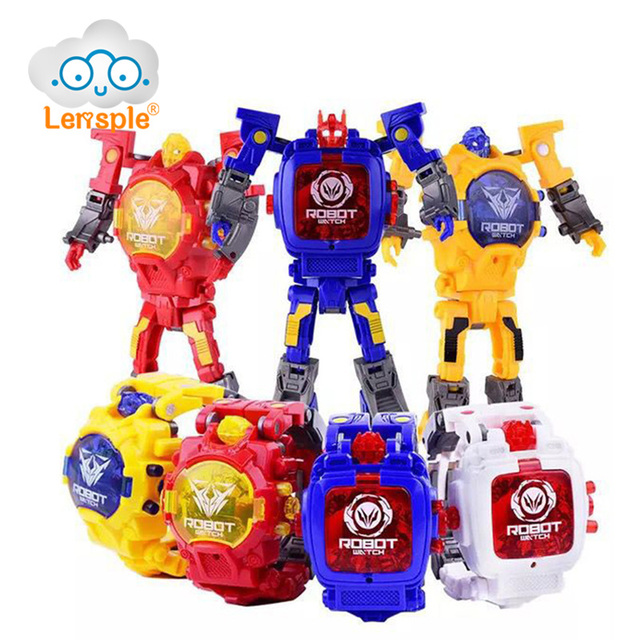 lensple transformation electronic wristwatch toy cartoon sports watches transformation robot toys xmas gifts for kids - Xmas Gifts