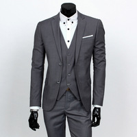Suits Men 2018 New Arrival Spring Autumn High Quality Business Casual Suit Three piece Groomsman Wedding Suits S 6XL Nine Color
