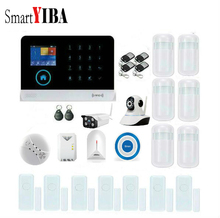 SmartYIBA WIFI GSM Security Burglar Alarm Indoor Outdoor IP Camera Wireless Fire Smoke Alarm Gas Leak