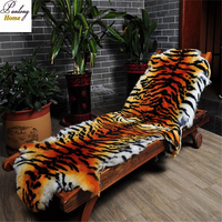 Panlonghome 2018 Imitate The Tiger Fur Rug Wool Carpets Bedroom Living Room European style Whole Sheepskin Sofa Cushion