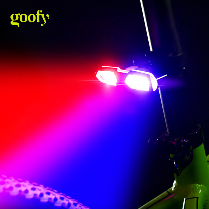 Goofy Bike Tail Light USB Rechargeable Safety Bicycle Rear Light LED Bicycle Light Cycling Flash Lamp MTB Road Bike Taillight фен щётка panasonic eh ka22