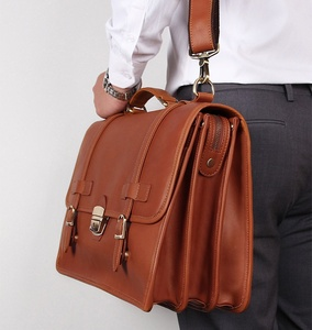 Image 4 - MAHEU Luxury Designer Leather Briefcase Mans Male Genuine Leather Business Bag Brown Leather Briefcase Bag For Laptop Notebooks