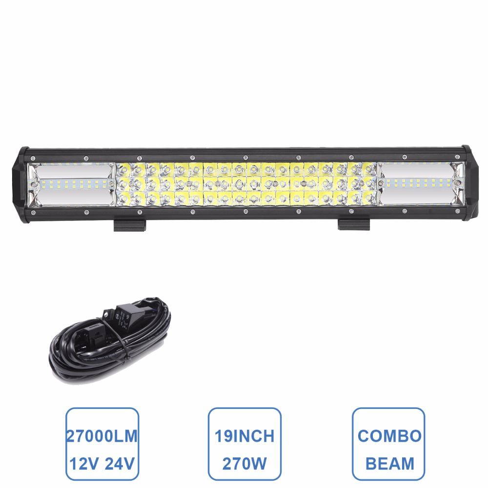 19INCH LED WORK LIGHT BAR DRIVING HEADLIGHT CAR 12V 24V OFFROAD SUV BOAT ATV WAGON PICKUP TRAILER 4WD UTE UTV 4X4 TRACTOR LAMP 9 90w 5d led work light bar spot flood auxiliary headlight 12v 24v offroad 4wd 4x4 tractor ute truck suv atv led driving lamp