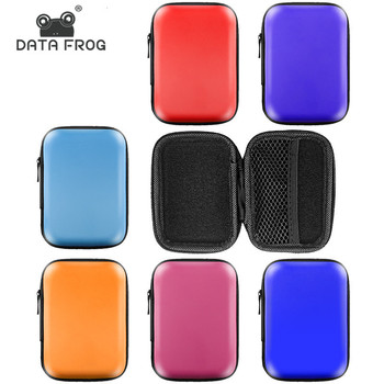 DATA FROG Portable Bag for Headphones Adapter SD Cards U Disk USB Cable Storage Case Carrying Pouch Bag Earphone Accessories