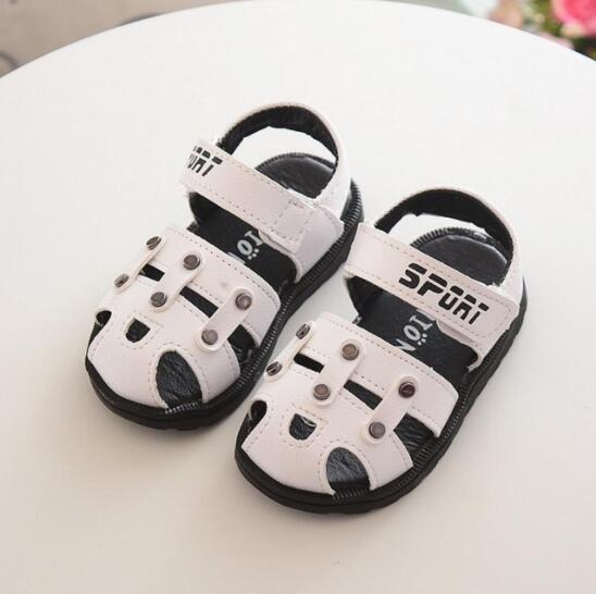Cute Baby Sole Antislip Sandals For Boys Kids Flats Shoe Children Hollow Outdoor Comfort Leather Sandal Enfant