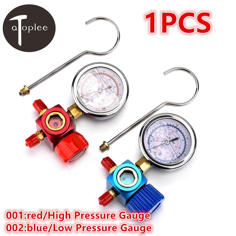 1PCS R410A/R22/R134A Refrigerant High/Low Pressure Gauge 1/4 Auto/Car Air-conditioning Refrigerant Pressure Gauge Tool  цены
