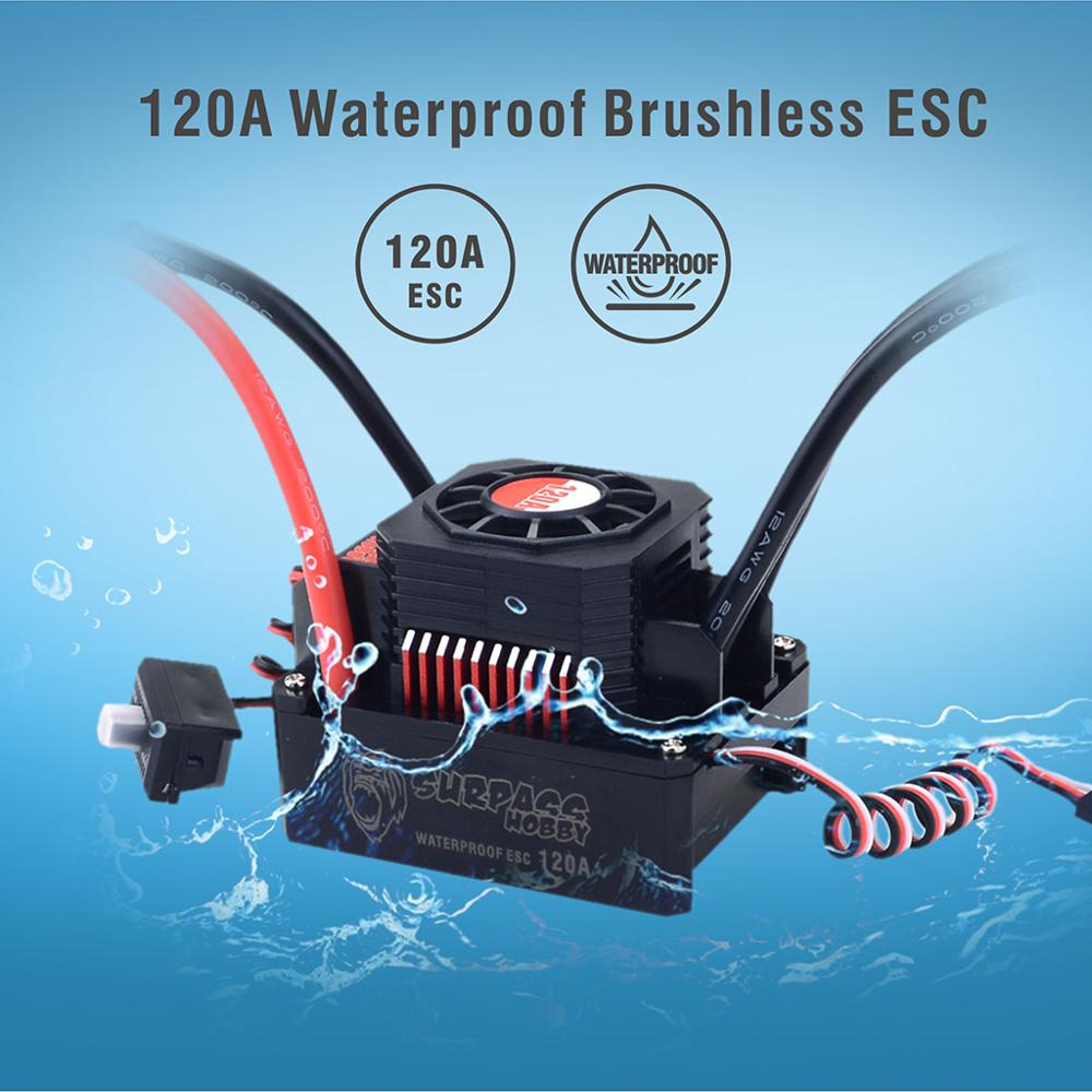 Image 4 - KK Waterproof Set 3674 1900KV 2250KV 2500KV Brushless Motor w/Heat Sink 120A ESC for 1/10 1/8 RC Car-in Parts & Accessories from Toys & Hobbies