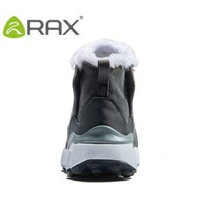 Image 4 - RAX גברים של נעלי הליכה האחרון Snowboot אנטי להחליק בטנת קטיפה אמצע גבוהה קלאסי סגנון הליכה עבור מקצועי גברים