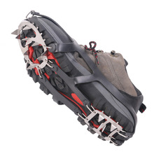 1 Pair 18 Teeth Stainless Steel Crampons Snow Non-Slip Shoe Cove Winter Skiing Outdoor Equipment Rock Climbing Skidproof Chain