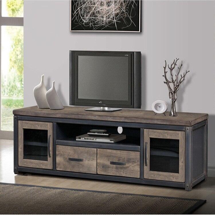 american retro televisie bureau lade woonkamer kasten ruw hout tv