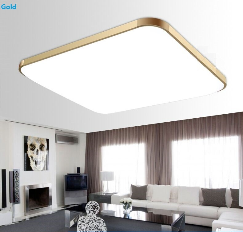 ФОТО Modern ultra-thin minimalist acrylic ceiling led Square Living room ceiling lamp bedroom lamp creative study ceiling lights