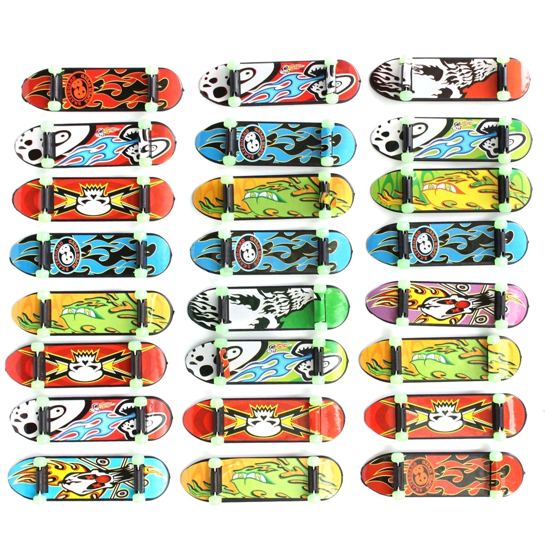 LCLL-24pcs/Pack Fingerboards Finger Board Deck Skateboard 3.94inch Mini Kids Games Toys