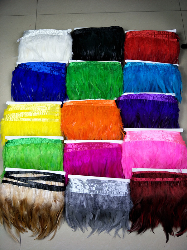 Besplatna dostava na veliko 1 metar kvalitete 10-14cm / 4-6inch prirodni fazan vrat perje vrpca dekorativni diy pozornici izvedba