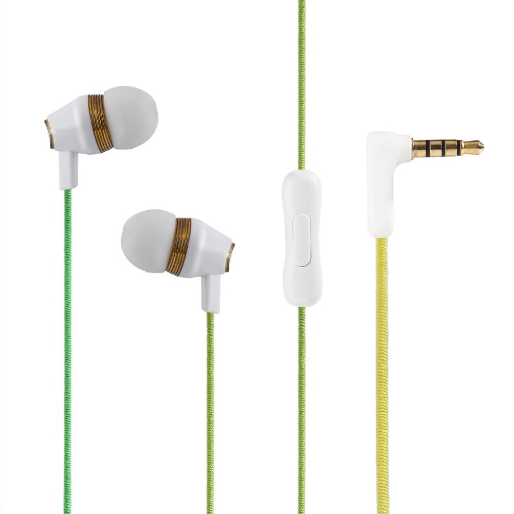 In-Ear Earphone Vintage Style Handmade Durable Tangle-free Braided Fabric Cable For Mobile Phone Touring Musicians & Travelers