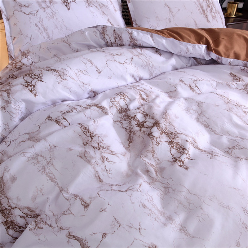 Image 5 - Simple Marble Bedding Duvet Cover Set Quilt Cover Twin King Size With Pillow Case comforter durable 3D Design luxury bed cover-in Bedding Sets from Home & Garden