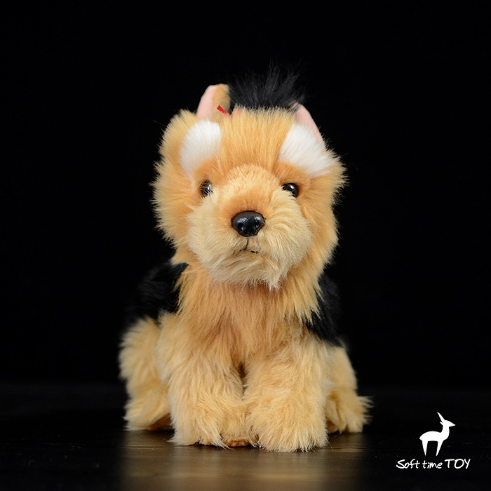 купить Plush Toy Simulation Yorkshire Terrier Doll Stuffed Animal Dogs Dolls Toys For Children Gifts недорого