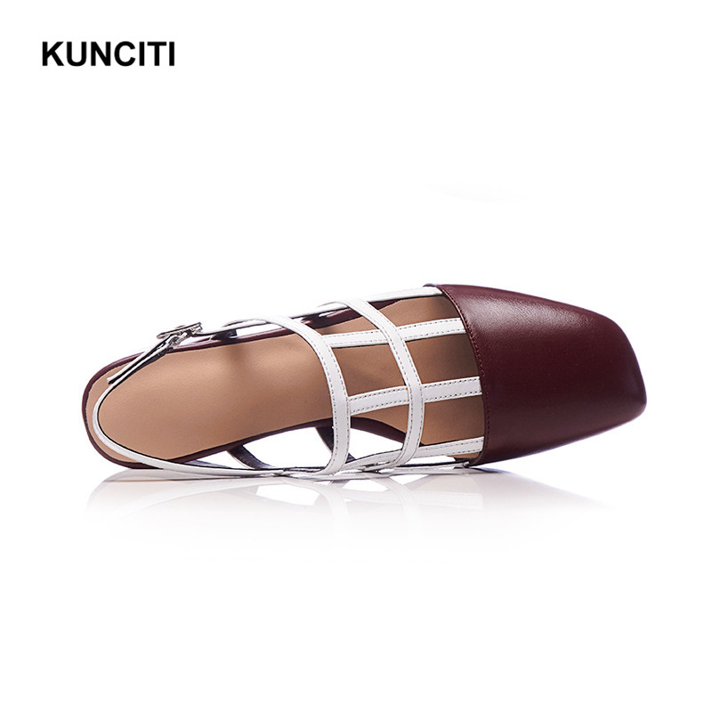 5eea17211375 ... Color Gladiator S46 Hollow Sexy Toe Heel Chunky Sandals Sandals Leather  Shoes Designer Out 2018 Rome ...