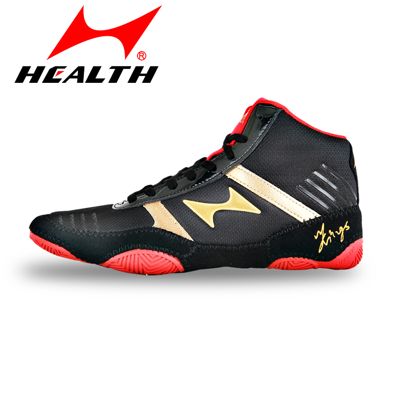 HEALTH boxing shoes man wrestling shoes light and comfortable breathable mesh skid proof wear resistant high elastic sole Kids image