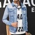 Top Quality Boutique Brand Jeans Jacket Men Slim Fit Male Button Jacket Casual denim Jackets For Men Chaqueta Hombre
