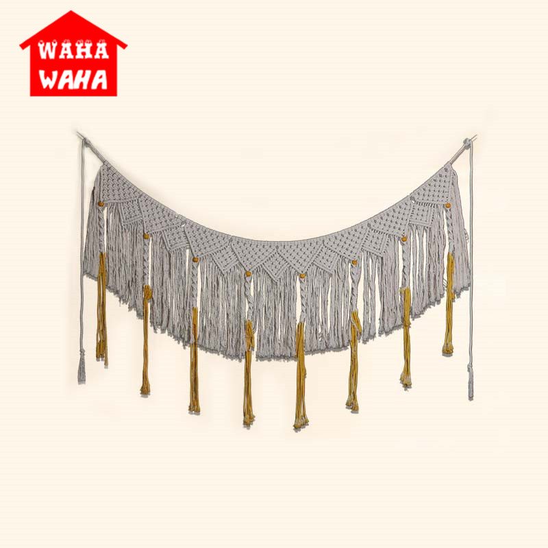 Nordic Style Bohemia Handmake Woven Wall Tapestry Door Curtain Hanging Tapestry Knitting Textiles Tapisserie Home Decoration