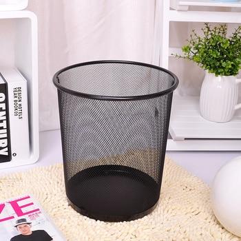 Fashion Portable Metal Trash Can Kitchen Living Room Waste Bin Bathroom Toilet Poubelle De Cuisine Office Paper Basket Lixeira Туалет
