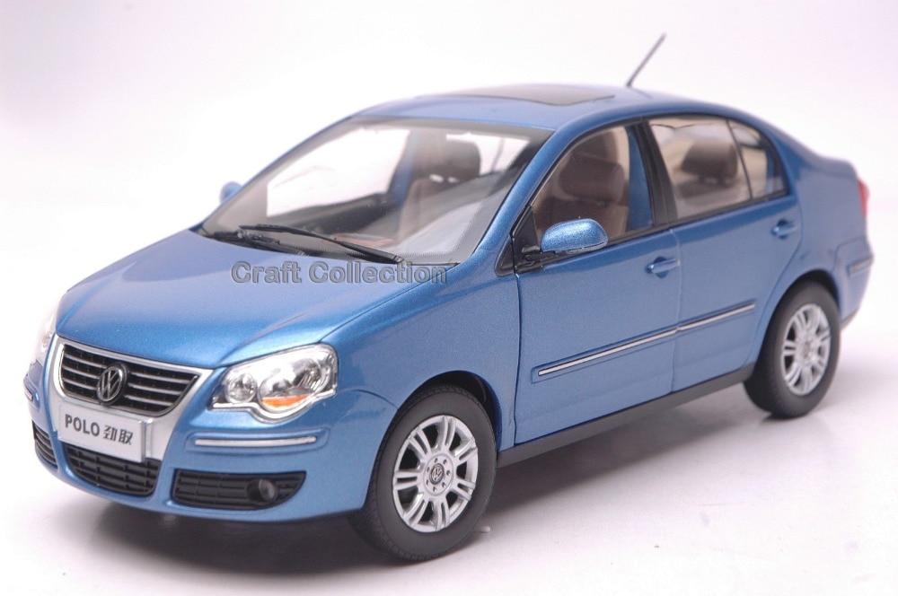 * Blue 1:18 Volkswagen POLO Cross Sedan Alloy Model Diecast Modell Auto Classic toys Scale Models