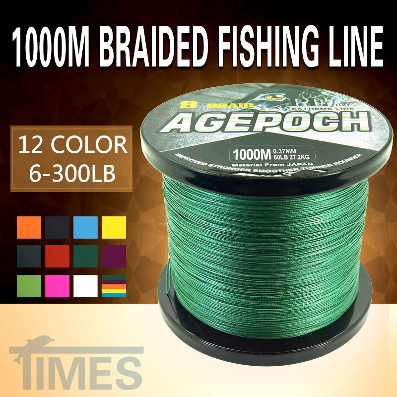 2016 Super Strong 8 STRAND 1000M Times Fishing Tools Multifilament Braided Fishing Line for Ocean Rock Linha De Pesca dilong pu702 wired usb street fighter joystick controller for pc black yellow red