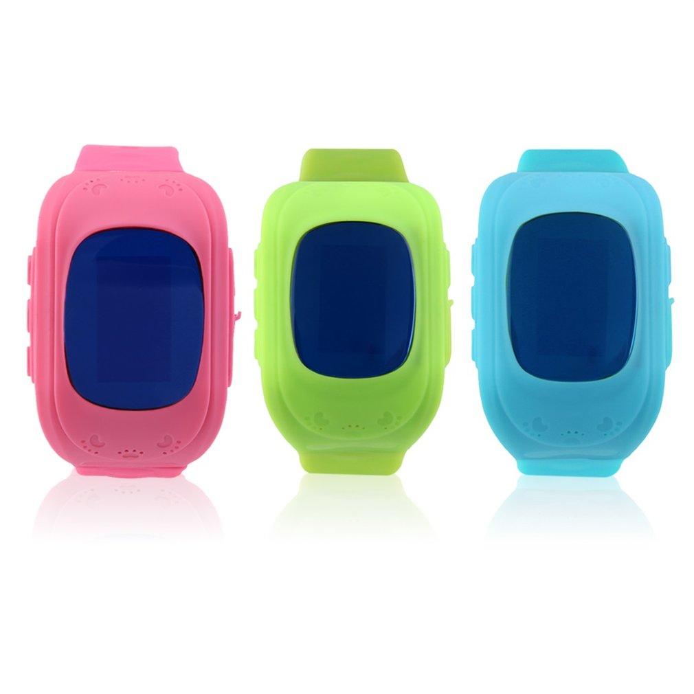Q50 children font b Smart b font watch GPS tracker Kids Wristwatch OLED screen SOS Call