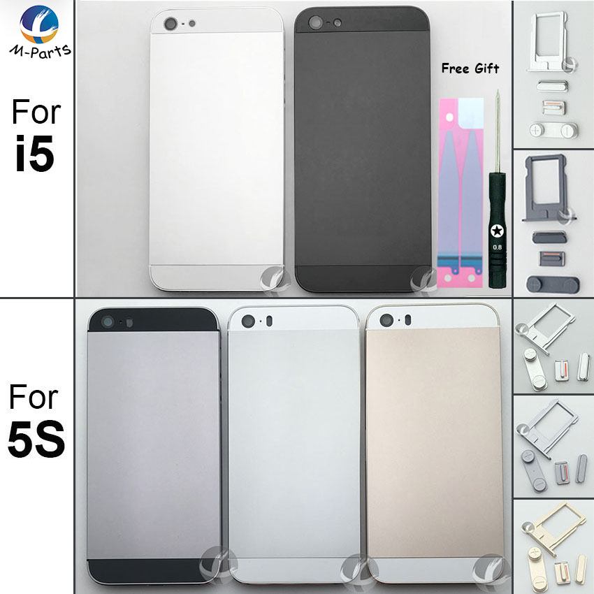 For iphone 5 5S SE Back Housing Metal Rear Cover Battery cover Lid Door Chassis Frame OEM AAA + Free Battery Sticker ToolFor iphone 5 5S SE Back Housing Metal Rear Cover Battery cover Lid Door Chassis Frame OEM AAA + Free Battery Sticker Tool