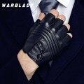 Мужские кожаные перчатки для вождения WarBLade, черные тактические перчатки с открытыми пальцами для фитнеса, 2021
