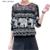 Más el tamaño S-XXXL mujer camisetas Lace Hollow Out moda Collar lleno de la manga tapas de la ropa de punto femenino y del elefante lindo calidad Tees